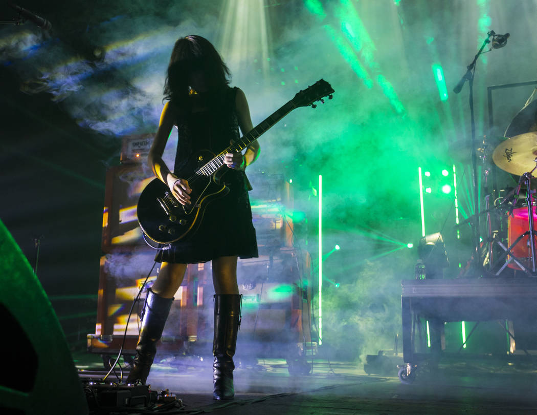 Wata of Boris performs at The Joint during the Psycho Las Vegas music festival at the Hard Rock Hotel in Las Vegas on Friday, Aug. 17, 2018. Chase Stevens Las Vegas Review-Journal @csstevensphoto