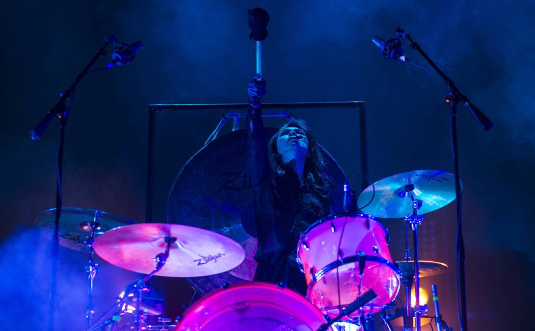 Atsuo of Boris performs at The Joint during the Psycho Las Vegas music festival at the Hard Rock Hotel in Las Vegas on Friday, Aug. 17, 2018. Chase Stevens Las Vegas Review-Journal @csstevensphoto