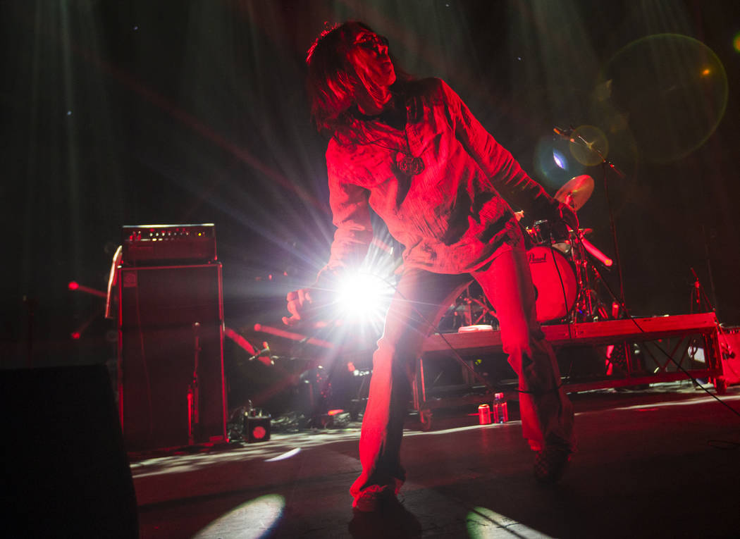 Hiroyuki Takano of Church of Misery performs at The Joint during the Psycho Las Vegas music festival at the Hard Rock Hotel in Las Vegas on Friday, Aug. 17, 2018. Chase Stevens Las Vegas Review-Jo ...