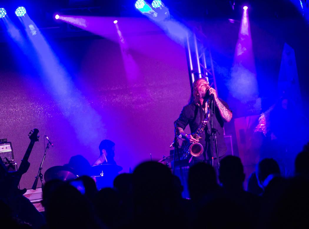 Bruce Lamont of Yakuza performs at Vinyl during the Psycho Las Vegas music festival at the Hard Rock Hotel in Las Vegas on Friday, Aug. 17, 2018. Chase Stevens Las Vegas Review-Journal @csstevensphoto