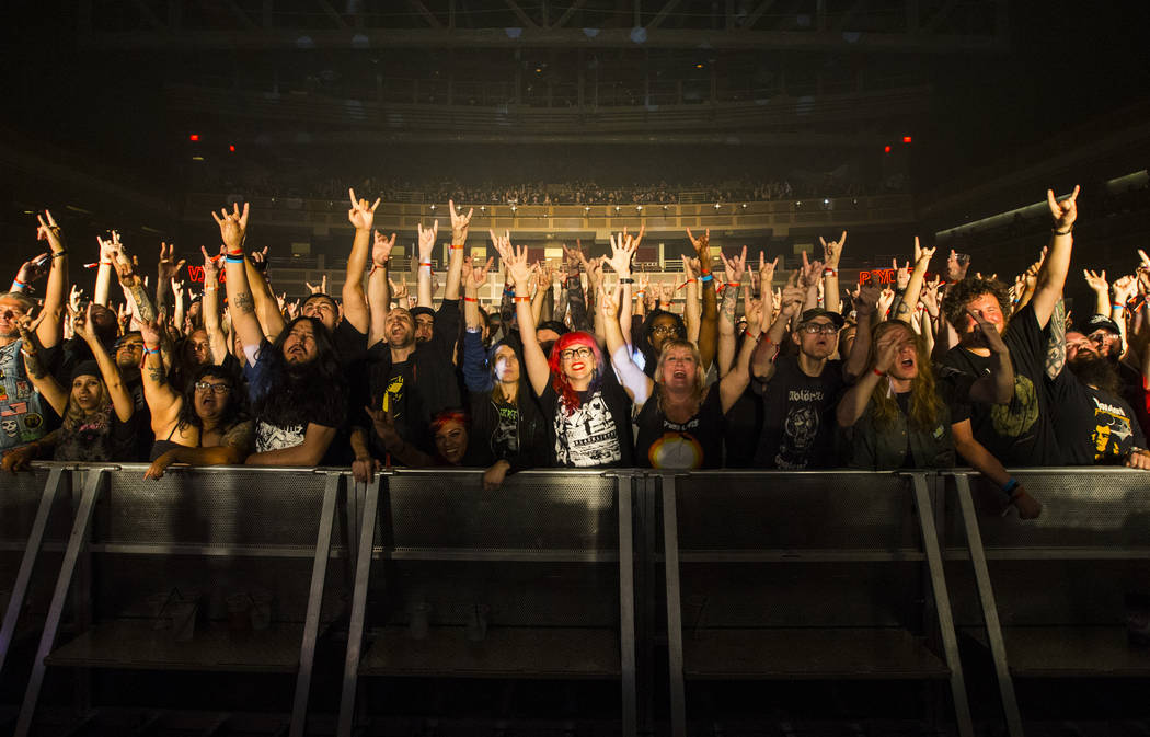 Fans pose for a picture as Monolord performs during Psycho Las Vegas at the Hard Rock Hotel in Las Vegas on Saturday, Aug. 18, 2018. Chase Stevens Las Vegas Review-Journal @csstevensphoto