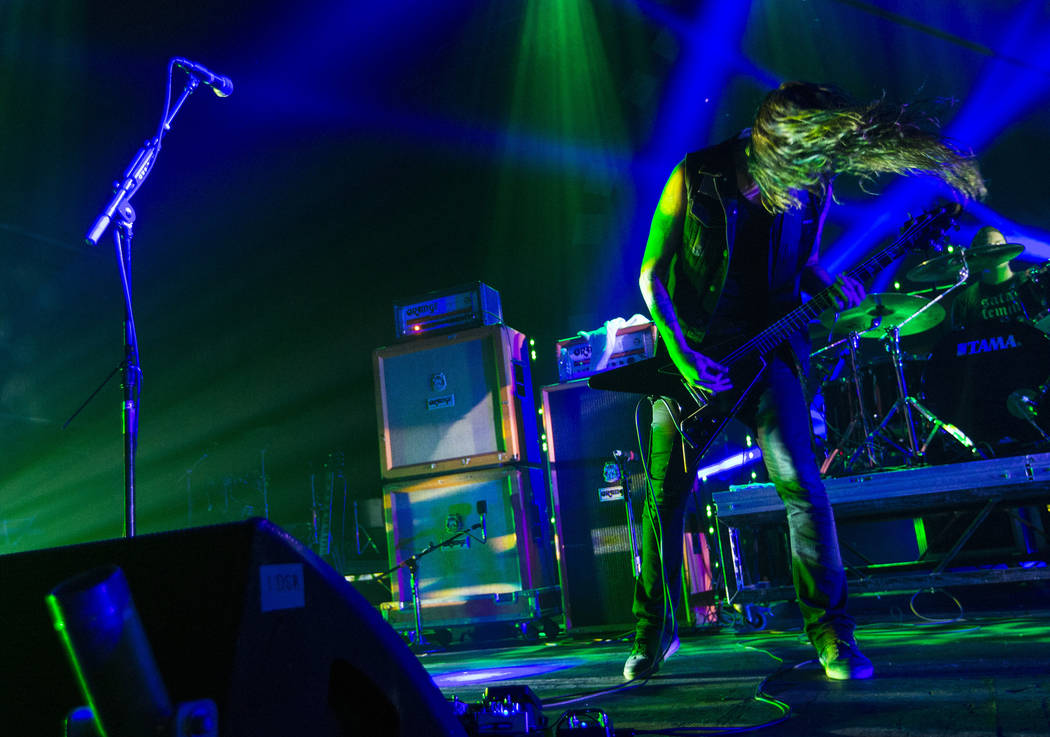 Thomas Jager of Monolord performs at The Joint during Psycho Las Vegas at the Hard Rock Hotel in Las Vegas on Saturday, Aug. 18, 2018. Chase Stevens Las Vegas Review-Journal @csstevensphoto