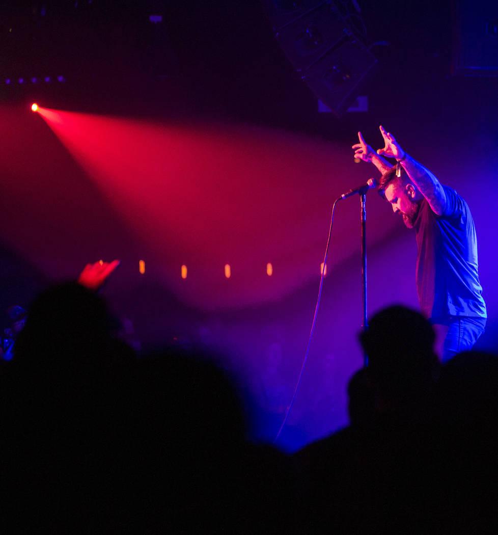 Kevin Baker of All Pigs Must Die performs at Vinyl during Psycho Las Vegas at the Hard Rock Hotel in Las Vegas on Saturday, Aug. 18, 2018. Chase Stevens Las Vegas Review-Journal @csstevensphoto