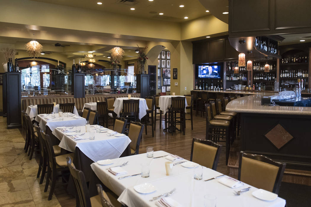 The dining area of Ferraro's Italian Restaurant & Wine Bar at 4480 Paradise Rd. in Las Vegas is seen Thursday, Aug. 25, 2016. Jason Ogulnik/Las Vegas Review-Journal