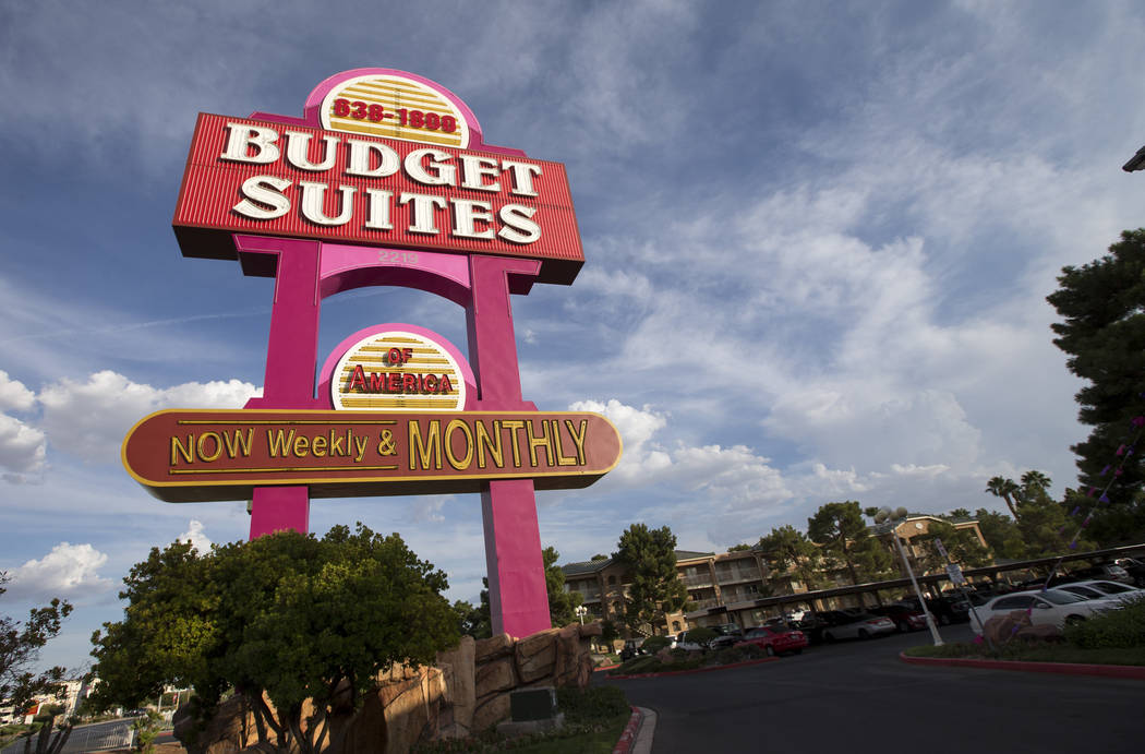 Budget Suites of America extended stay apartment chain located at 2219 North Rancho Drive in Las Vegas on Monday, Aug. 20, 2018. Richard Brian Las Vegas Review-Journal @vegasphotograph