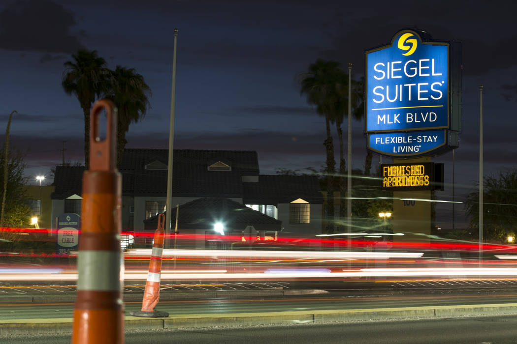 The Siegel Suites MLK extended stay apartment complex located at 100 South Martin Luther King Blvd. in Las Vegas on Monday, Aug. 20, 2018. Richard Brian Las Vegas Review-Journal @vegasphotograph
