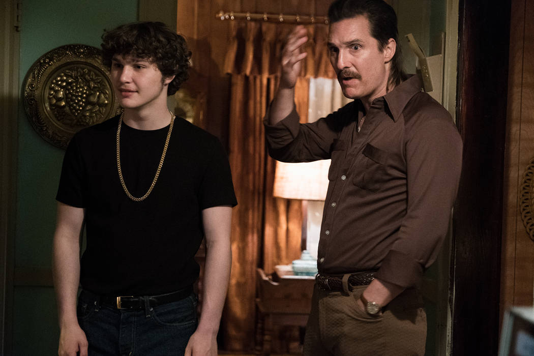 Richie Merritt, left, and Matthew McConaughey star as Richard Wershe Jr. and Richard Wershe Sr. in Columbia Pictures' and Studio 8's WHITE BOY RICK.