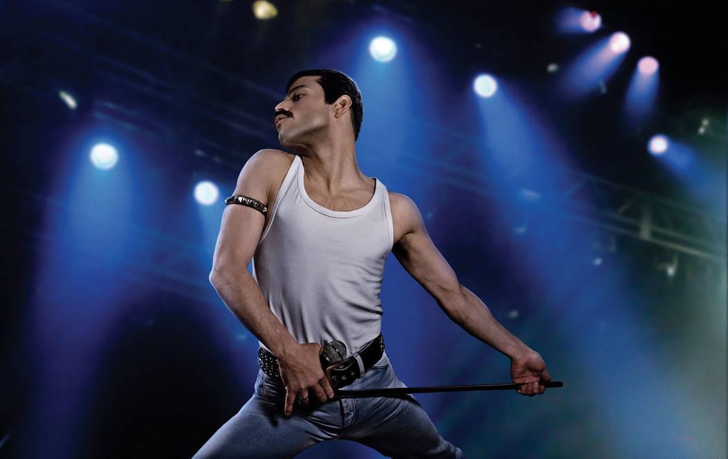 "Rami Malek as rock icon Freddie Mercury in the upcoming Twentieth Century Fox/New Regency film ""Bohemian Rhapsody."" (Nick Delaney/Twentieth Century Fox)"