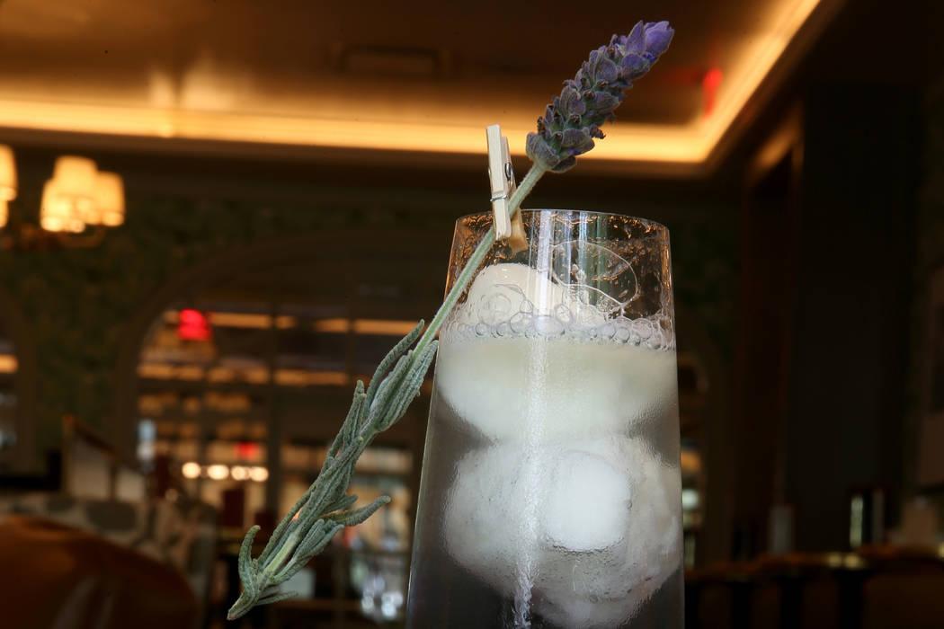 Lavender Sgroppino drink at Primrose at Park MGM Monday, Aug. 20, 2018. K.M. Cannon Las Vegas Review-Journal @KMCannonPhoto