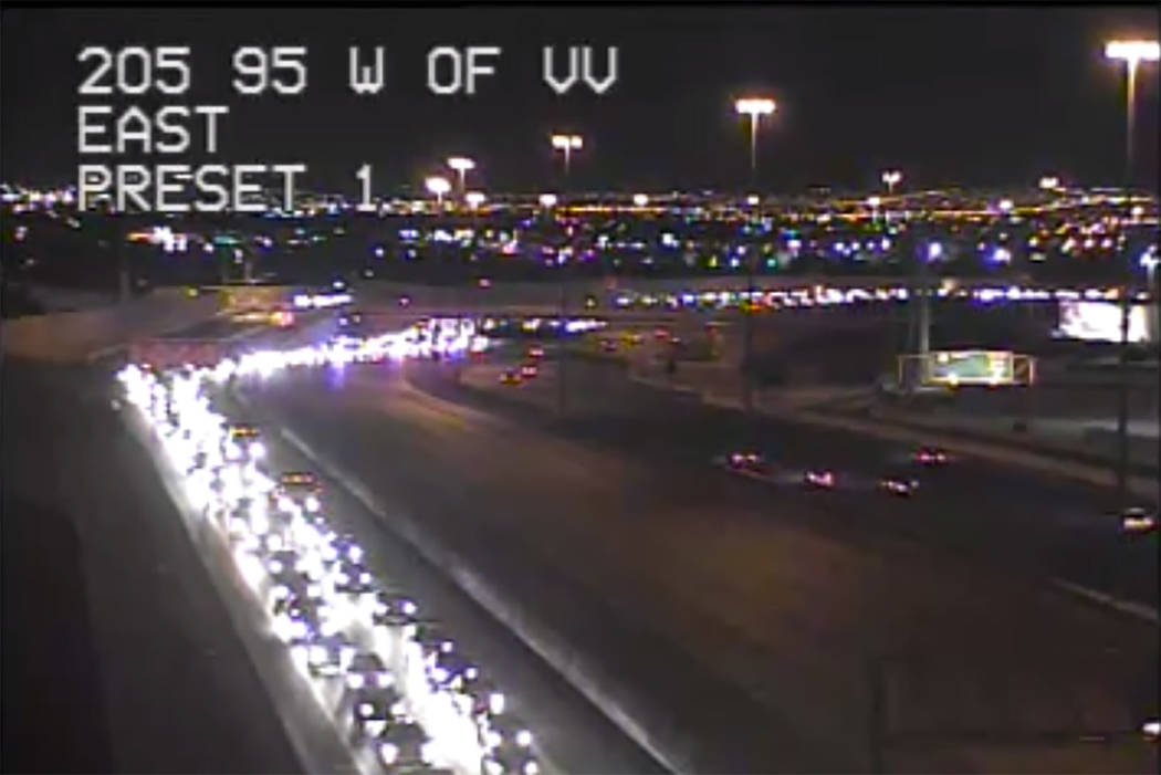 Traffic on US 95 northbound near Valley View Blvd. (Regional Transportation Commission of Southern Nevada)