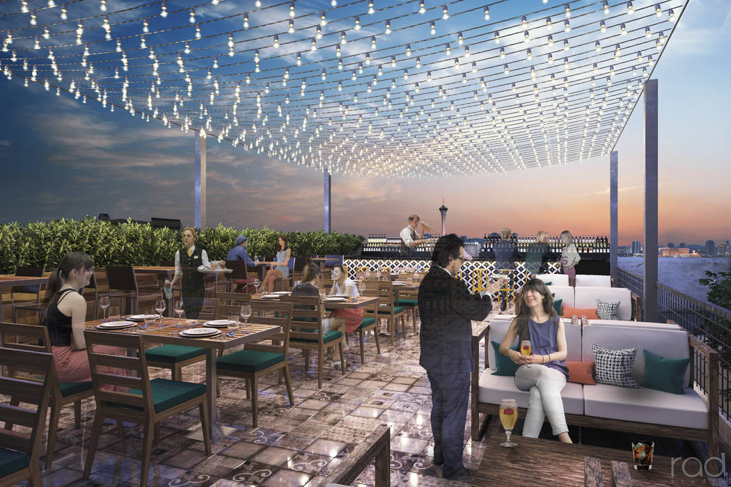 A rendering of the 22,000-square-foot Treehouse Las Vegas project to be located near the intersection of Main Street and Charleston Boulevard, the project will feature a 300-seat restaurant, indoo ...