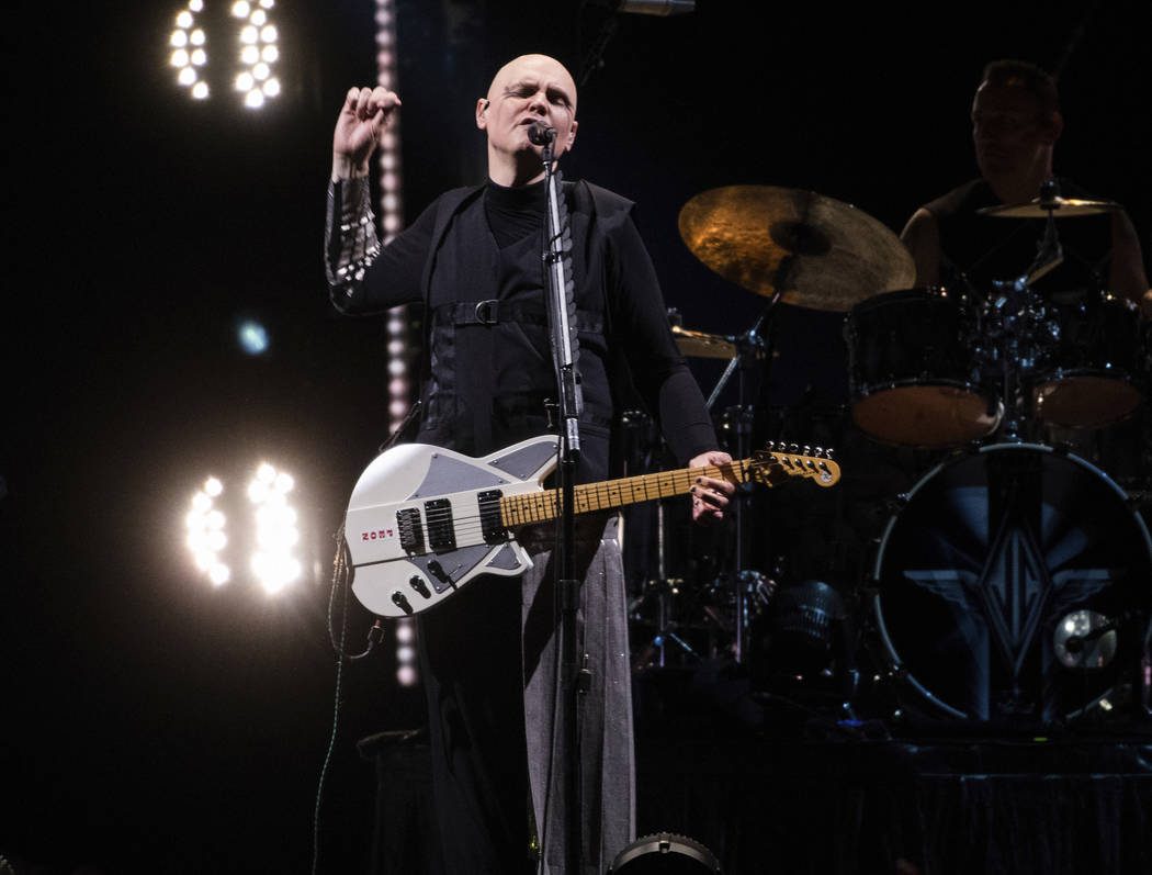 In this July 22, 2018 photo, Billy Corgan, of Smashing Pumpkins, performs at the Infinite Energy Center in Duluth, Ga. (Photo by Paul R. Giunta/Invision/AP)