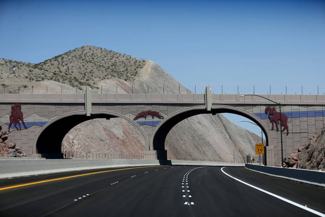 A wildlife bridge over Interstate 11 Friday, Aug. 3, 2018. K.M. Cannon Las Vegas Review-Journal @KMCannonPhoto