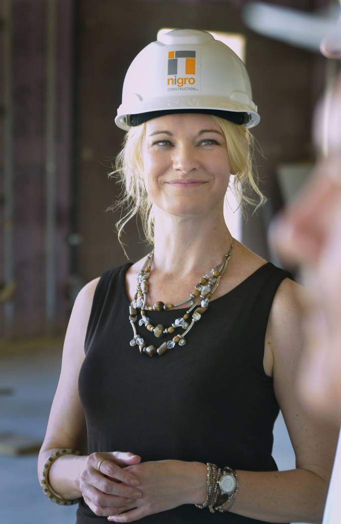 Melissa War, CEO of Mountain's Edge Hospital, is shown during a tour of the expansion to the hospital's orthopedic surgery center at 8656 W. Patrick Lane on Tuesday, July 3, 2018. Th ...