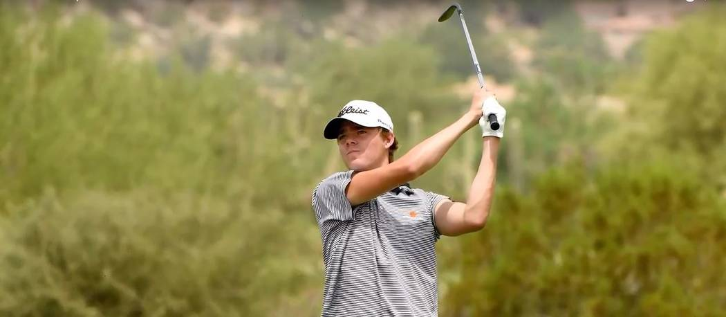 Cimarron product and Charleston Southern rising freshman Brandon Smith was the low amateur at the Arizona Open at Troon Country Club in Scottsdale. Photo courtesy Southwest Section PGA.
