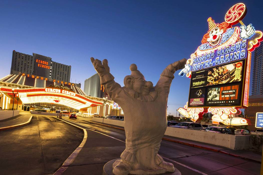 Entrance to Circus Circus on the Las Vegas Strip. (Richard Brian/Las Vegas Review-Journal) @vegasphotograph