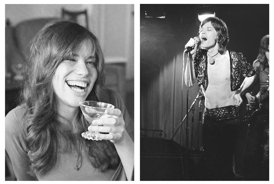 Carly Simon, left, on Nov. 19, 1971, and Mick Jagger, March 26, 1971. (AP file photos)