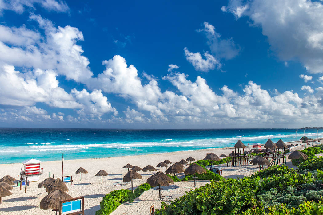 A beach is shown in Cancun, Mexico. (Getty Images)