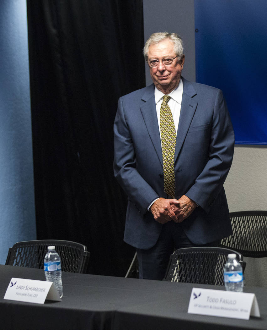 Former Nevada Gov. Robert List attends a roundtable discussion at Hope for Prisoners in Las Vegas on Wednesday, Aug. 22, 2018. Chase Stevens Las Vegas Review-Journal @csstevensphoto