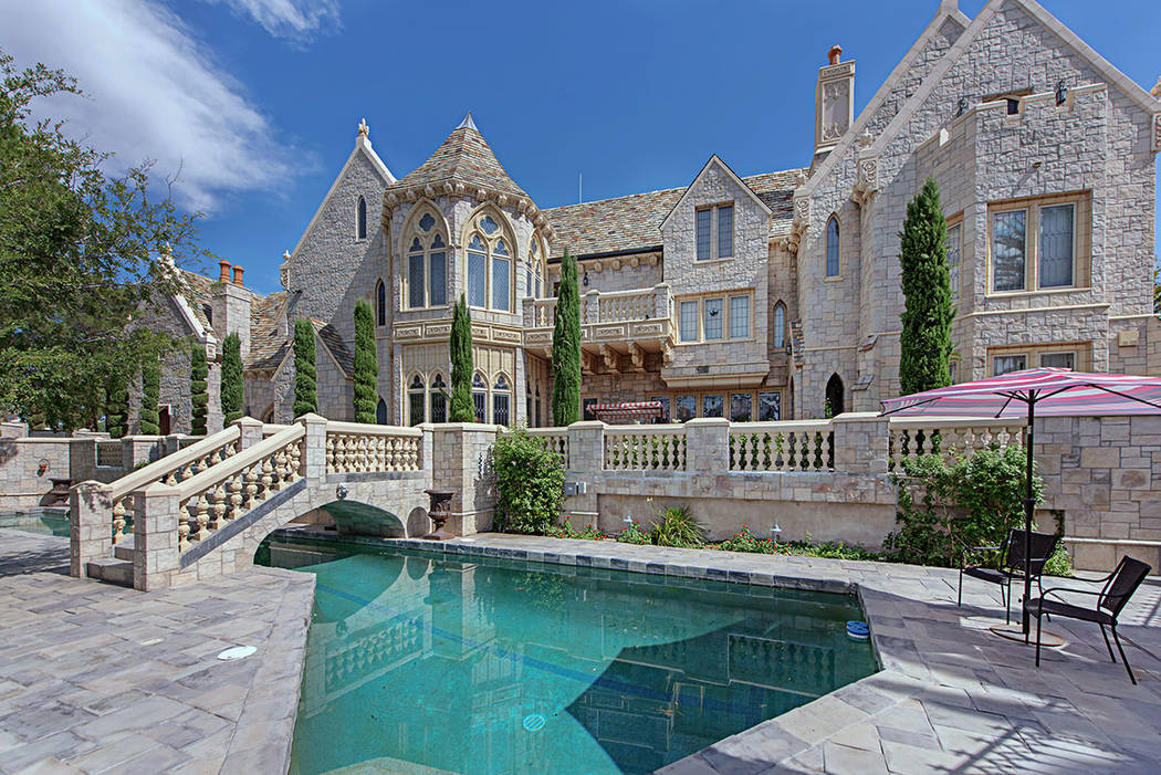 The 11,662-square-foot castle at The Lakes is listed for $3.85 million. (Rob Jensen Co.)