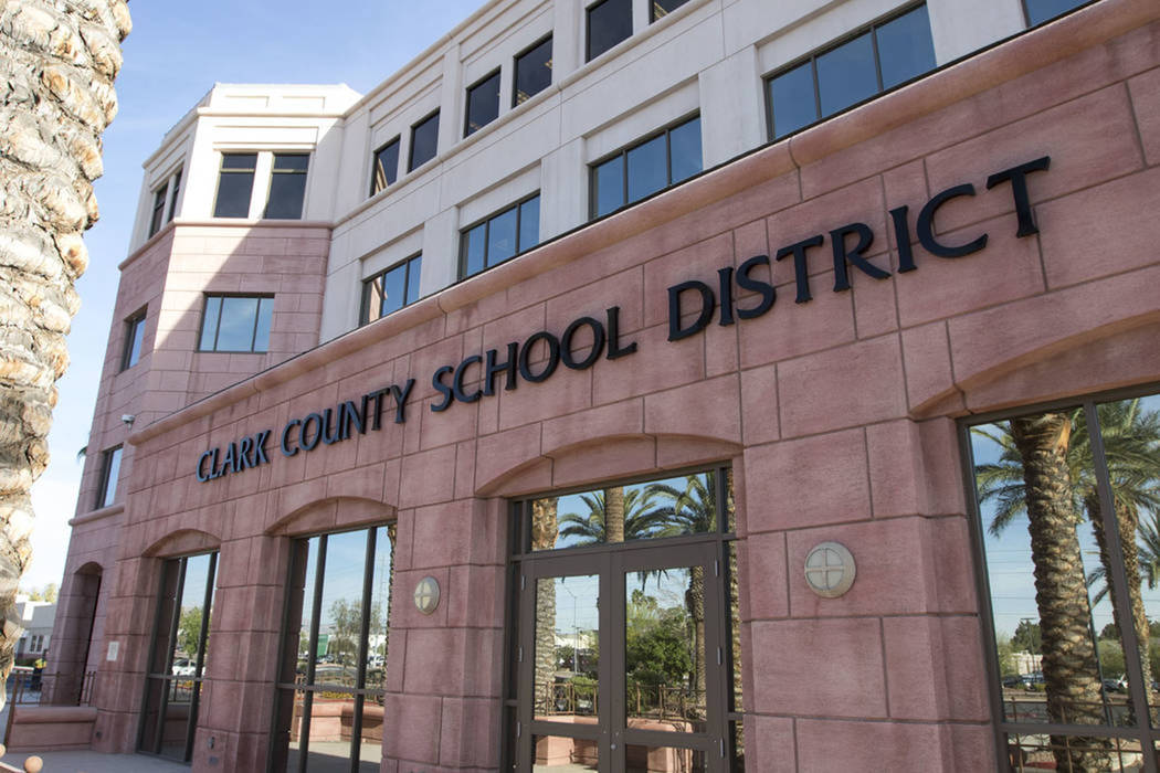 Clark County School District administration building at 5100 W. Sahara Ave. in Las Vegas (Richard Brian/Las Vegas Review-Journal)