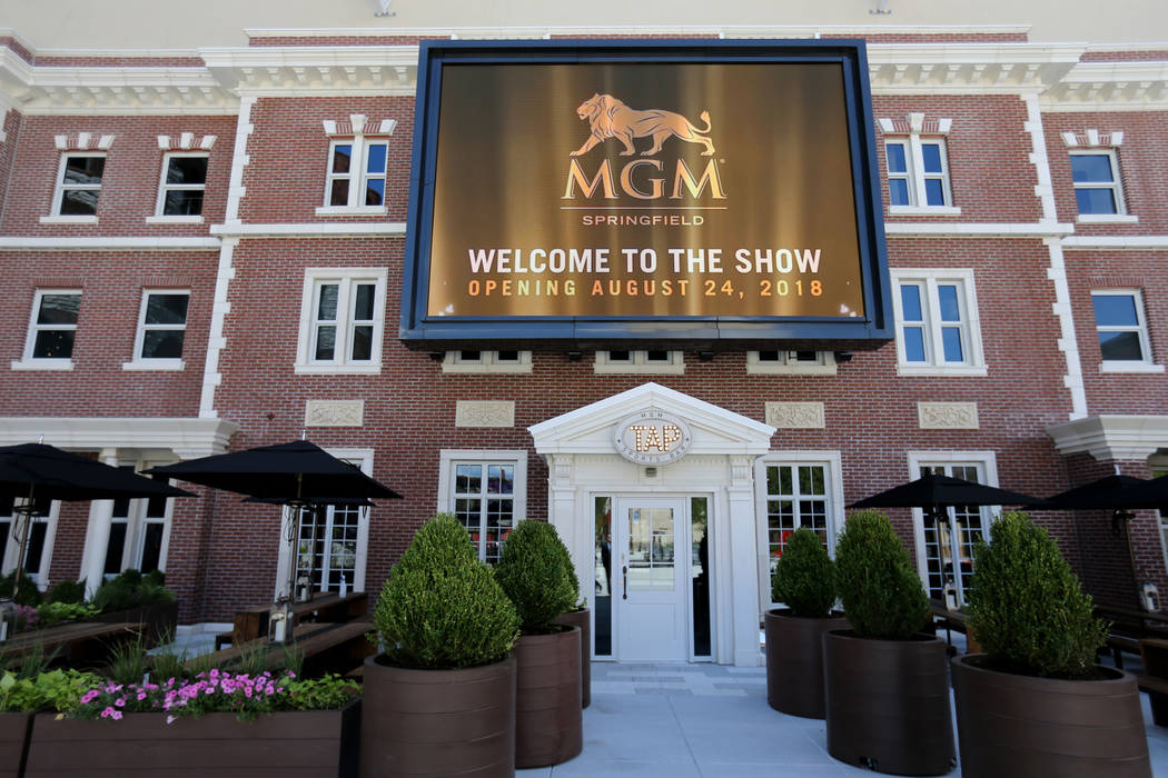Tap sports bar in Armory Square at new MGM Springfield $960 million casino in Massachusetts Thursday, Aug. 23, 2018. The casino opens Friday. K.M. Cannon Las Vegas Review-Journal @KMCannonPhoto