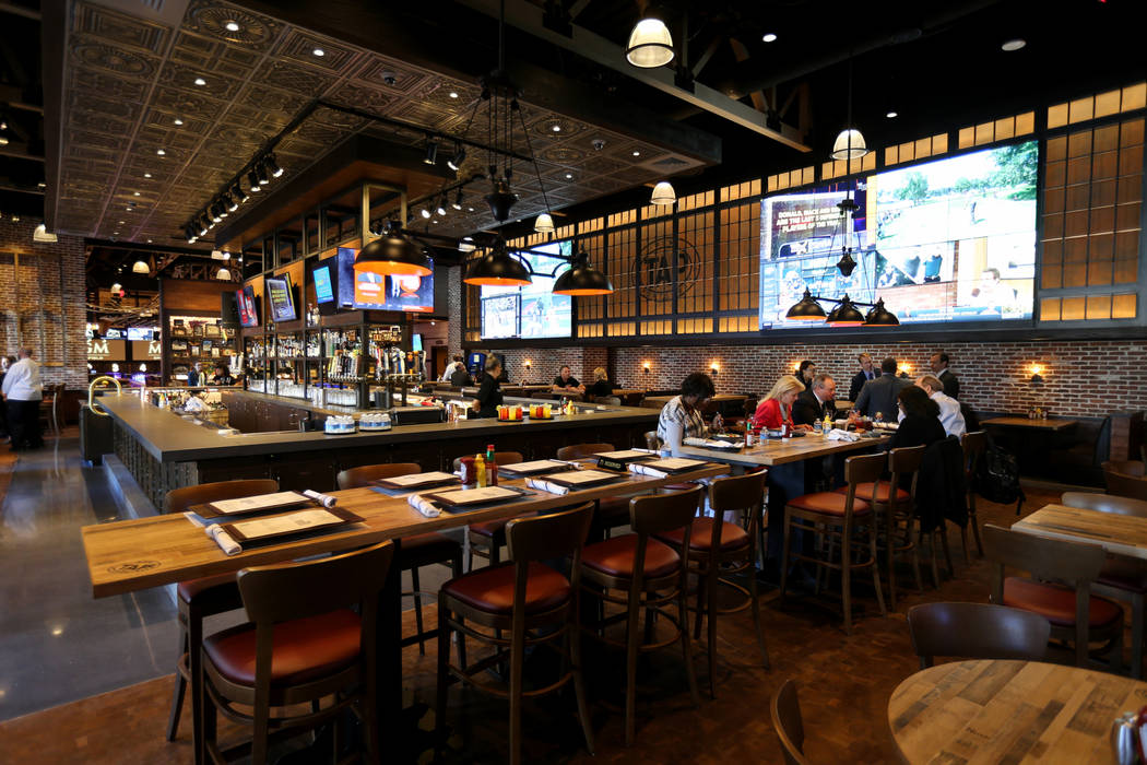 Tap sports bar at new MGM Springfield $960 million casino in Massachusetts Thursday, Aug. 23, 2018. The casino opens Friday. K.M. Cannon Las Vegas Review-Journal @KMCannonPhoto