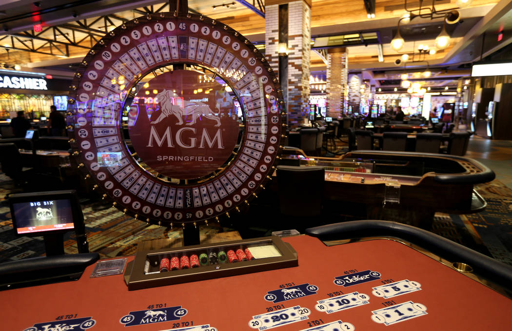 The casino floor at the new MGM Springfield $960 million casino in Massachusetts Thursday, Aug. 23, 2018. The casino opens Friday. K.M. Cannon Las Vegas Review-Journal @KMCannonPhoto