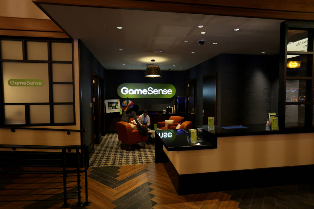 GameSense, a problem gambling awareness program, is just off the casino floor at the new MGM Springfield $960 million casino in Massachusetts Thursday, Aug. 23, 2018. The casino opens Friday. K.M. ...