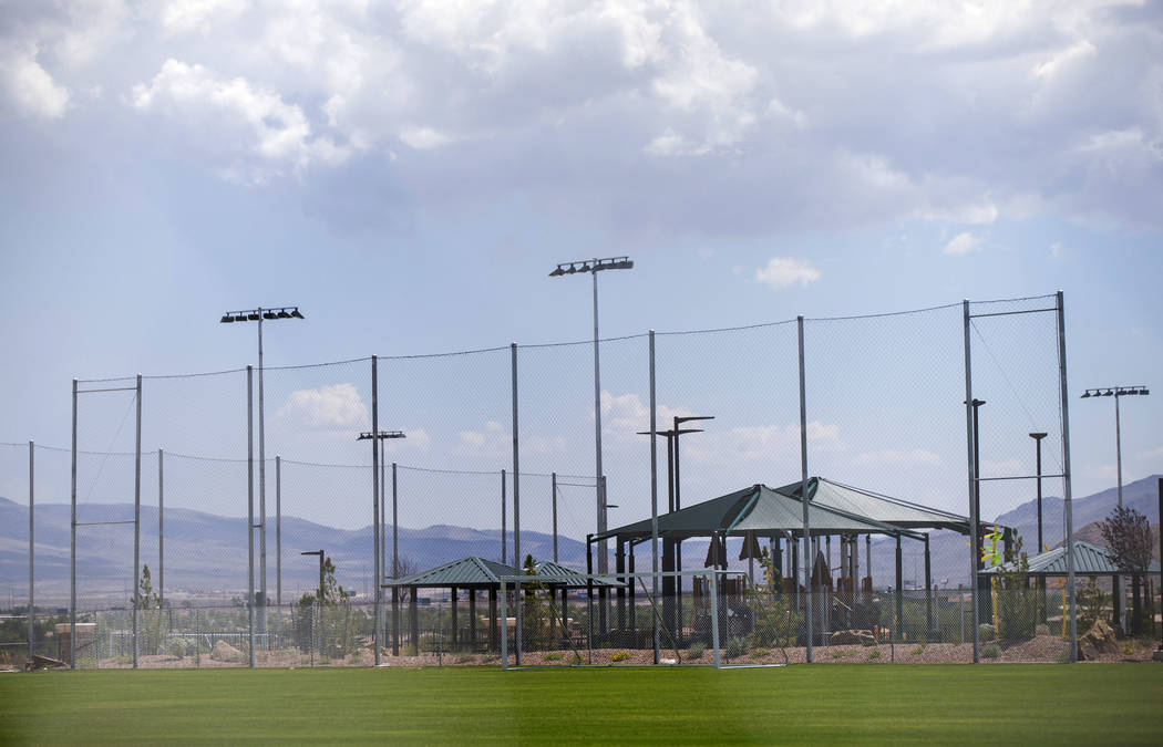 Olympia Sports Park, slated to open Tuesday, in the Southern Highlands area of Las Vegas on Thursday, Aug. 23, 2018. Chase Stevens Las Vegas Review-Journal @csstevensphoto
