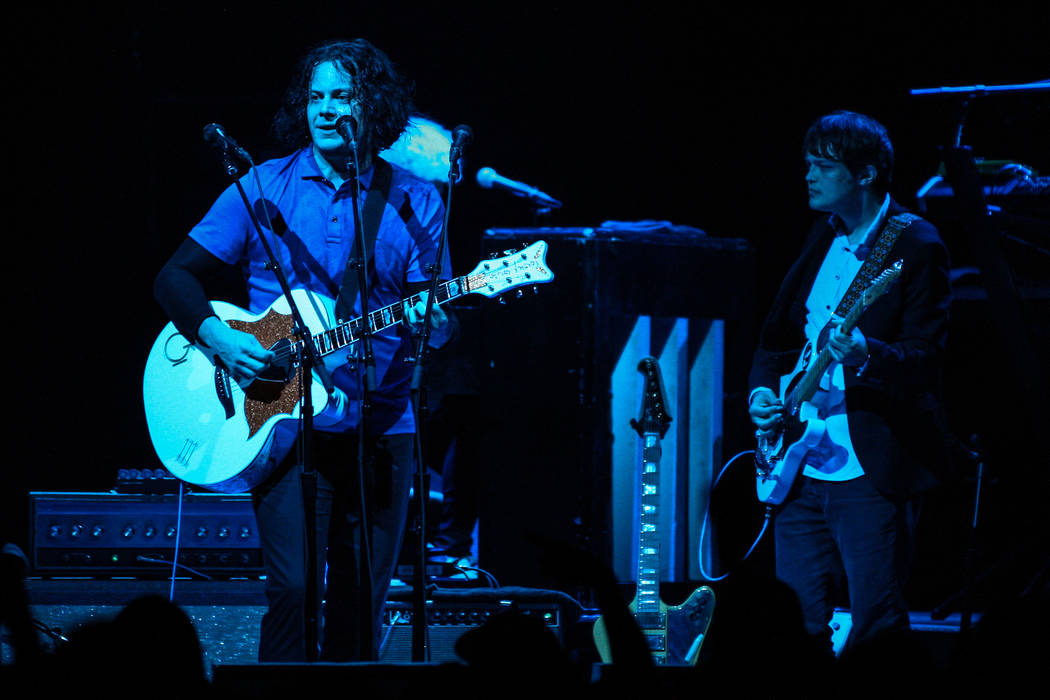 Jack White at The Chelsea at The Cosmopolitan of Las Vegas on Thursday. (David James Swanson)