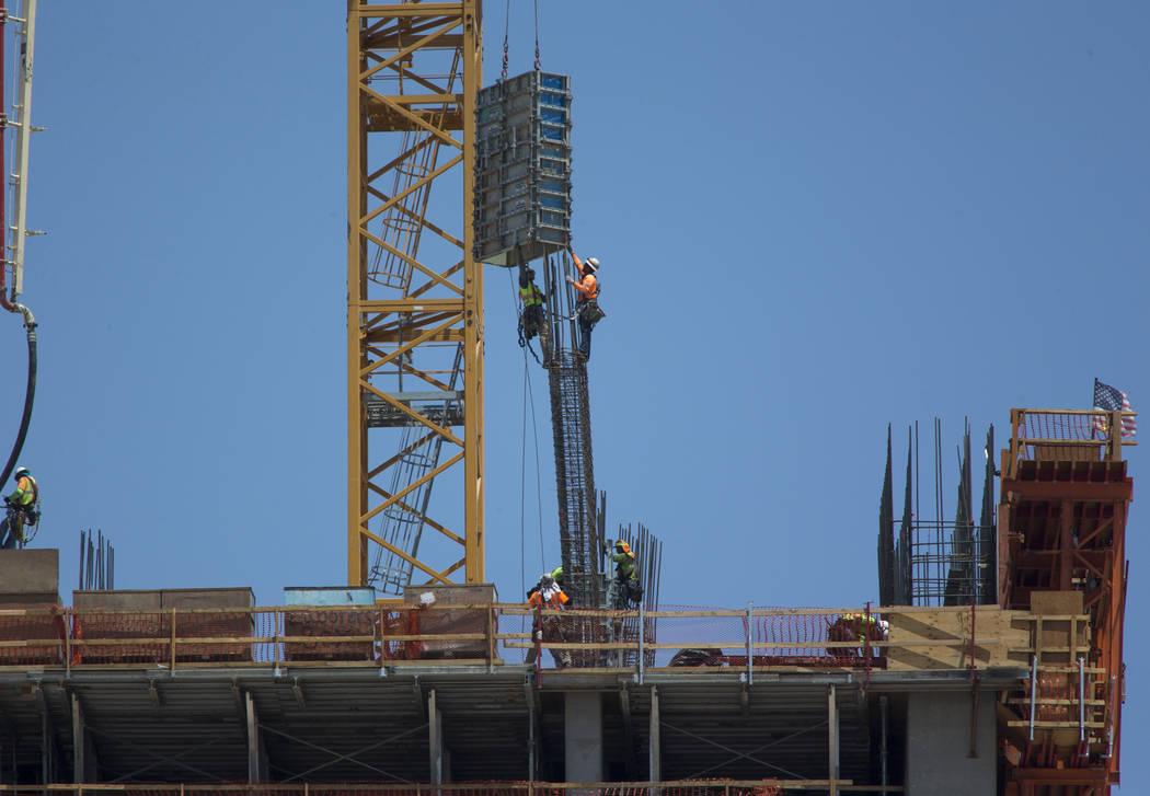 Construction continues at Resorts World Las Vegas on Thursday, Aug. 2, 2018. Richard Brian Las Vegas Review-Journal @vegasphotograph