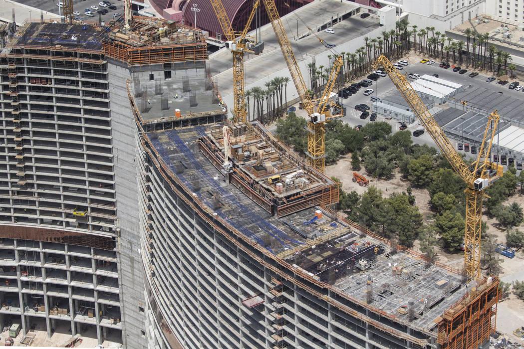 Construction continues on Resorts World Las Vegas on Wednesday, Aug. 22, 2018, in Las Vegas. Benjamin Hager Las Vegas Review-Journal @benjaminhphoto
