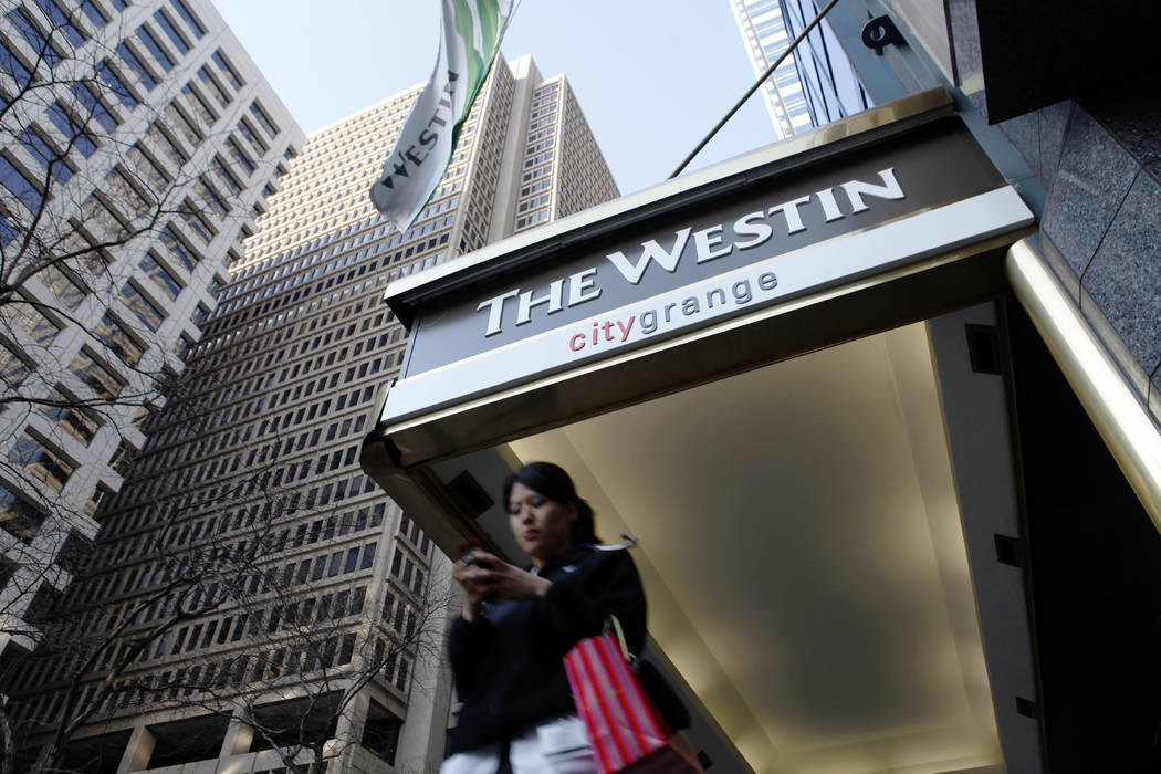 The Westin Philadelphia hotel in Philadelphia on Feb. 1, 2010. Marriott International, which bought Starwood two years ago, has begun putting copies of the Bible and the Book of Mormon in Sheraton ...