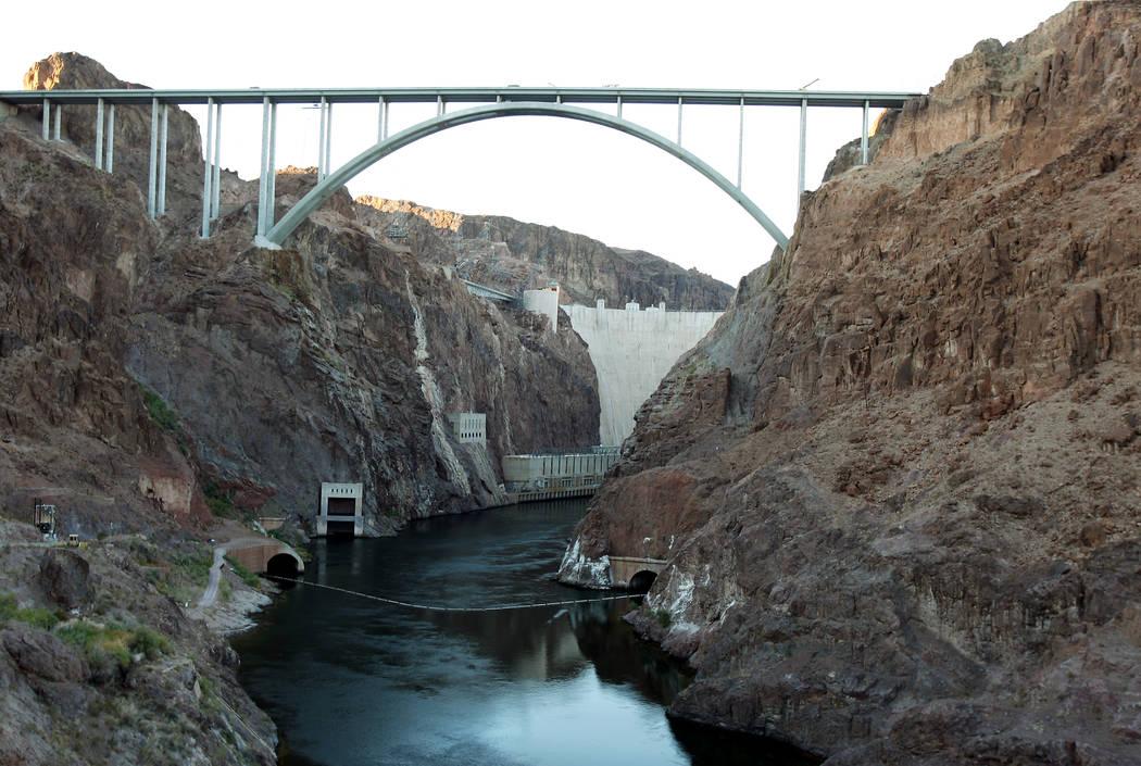 The U.S. Highway 93 Hoover Dam bypass bridge near Hoover Dam (Las Vegas Review-Journal)