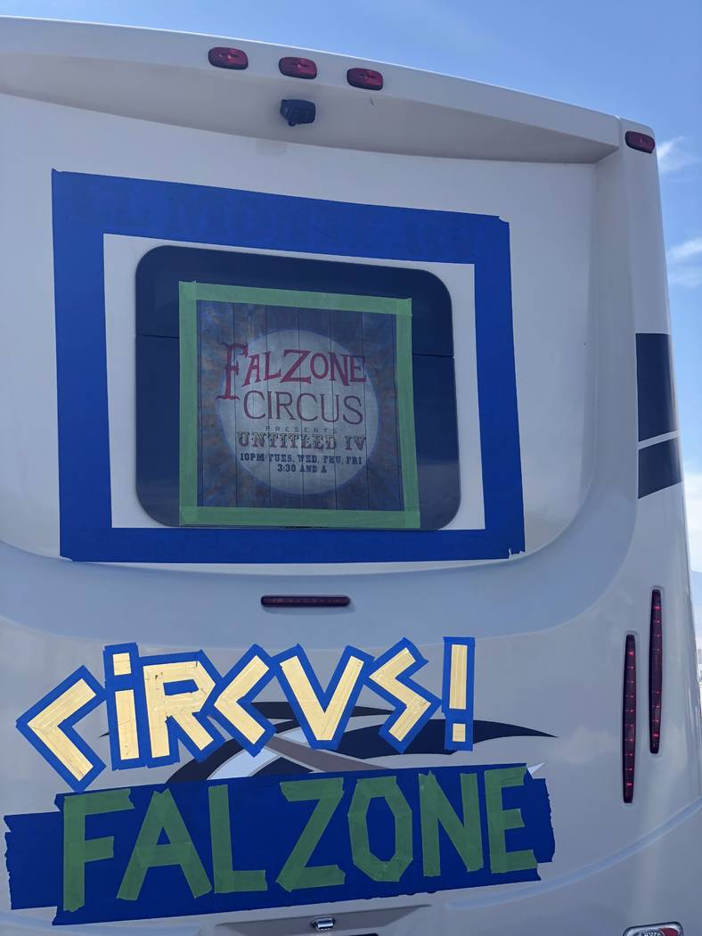 A look at the Spiegelworld Falzone Circus RV heading to Burning Man on Saturday, Aug. 25, 2018 (Ross Mollison)