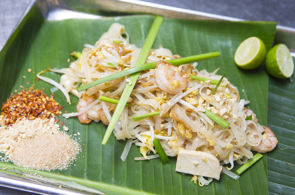 Pad thai by Pok Pok at The Cosmopolitan of Las Vegas in Las Vegas on Friday, Aug. 24, 2018. Pok Pok will be one of 6 locations opening as part of the Block 16 Urban Eatery & Bar. Chase Stevens ...