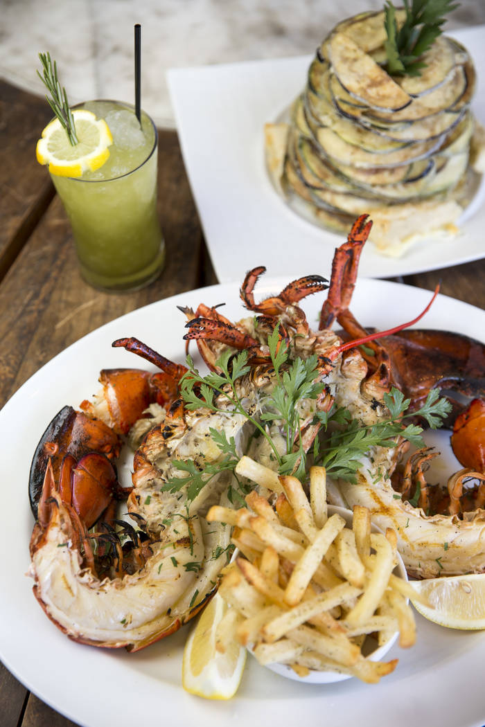 The Deep Sea Bay of Fundy with the Table 2 cocktail and Milos Special appetizer at Estiatorio Milos inside The Cosmopolitan of Las Vegas on Saturday, Aug. 25, 2018. Richard Brian Las Vegas Review- ...