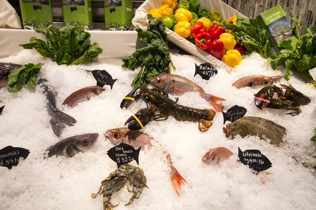 Fresh seafood on display at Estiatorio Milos inside The Cosmopolitan of Las Vegas on Saturday, Aug. 25, 2018. Richard Brian Las Vegas Review-Journal @vegasphotograph