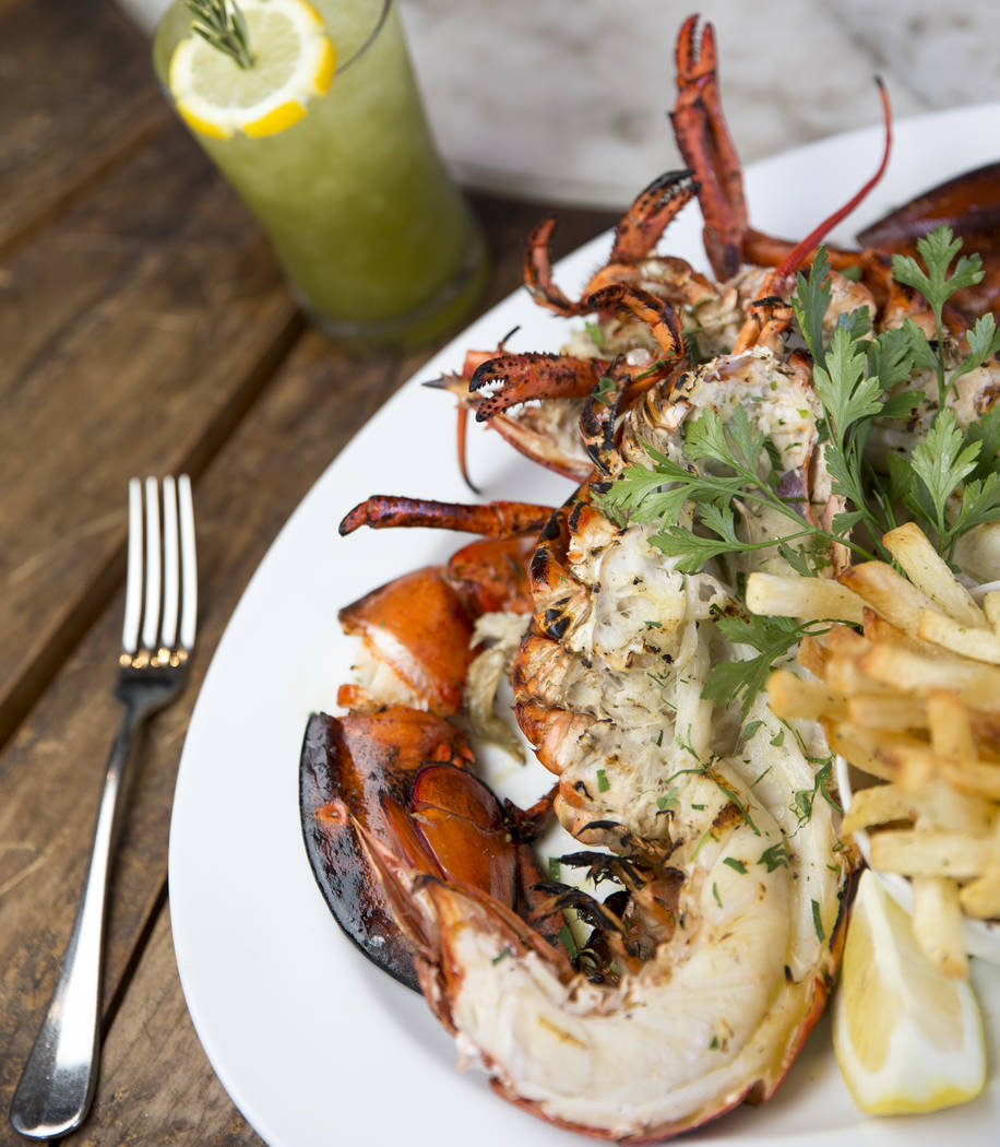 The Deep Sea Bay of Fundy with the Table 2 cocktail at Estiatorio Milos inside The Cosmopolitan of Las Vegas on Saturday, Aug. 25, 2018. Richard Brian Las Vegas Review-Journal @vegasphotograph