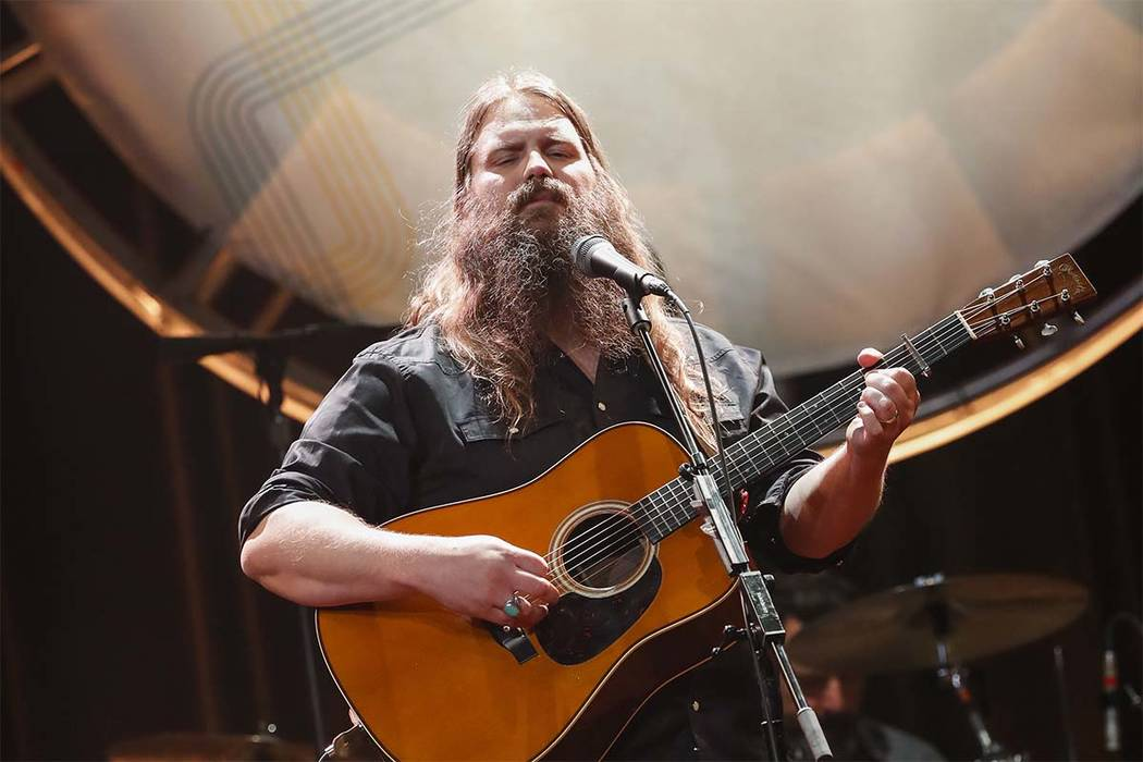 Chris Stapleton performs on Aug. 22, 2018, at the 12th Annual ACM Honors at the Ryman Auditorium in Nashville, Tennessee. (Al Wagner/Invision/AP)