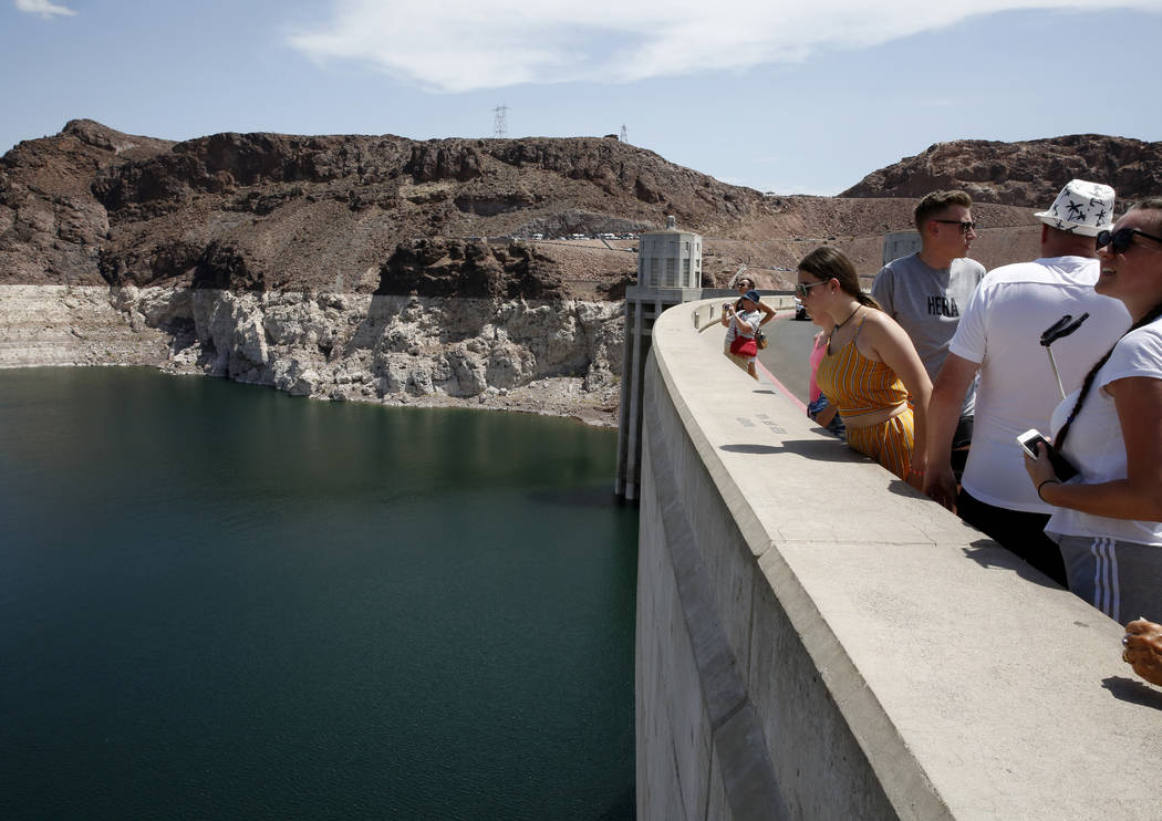 Tourists visit the Hoover Dam on Thursday, Aug. 16, 2018, in Las Vegas. Bizuayehu Tesfaye/Las Vegas Review-Journal @bizutesfaye