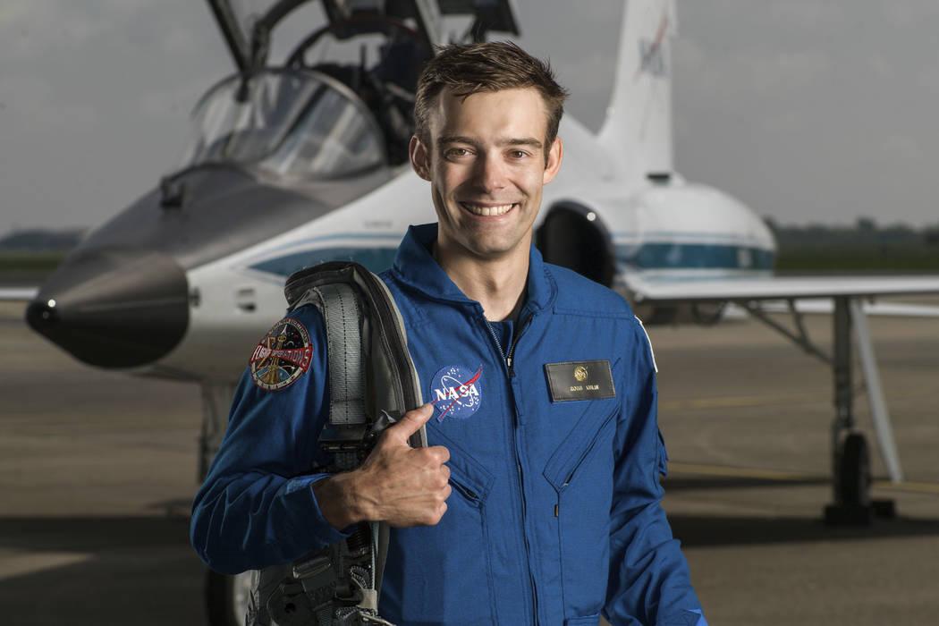 NASA astronaut candidate Robb Kulin at Ellington Field in Houston on June 6, 2017. (Robert Markowitz/NASA via AP)