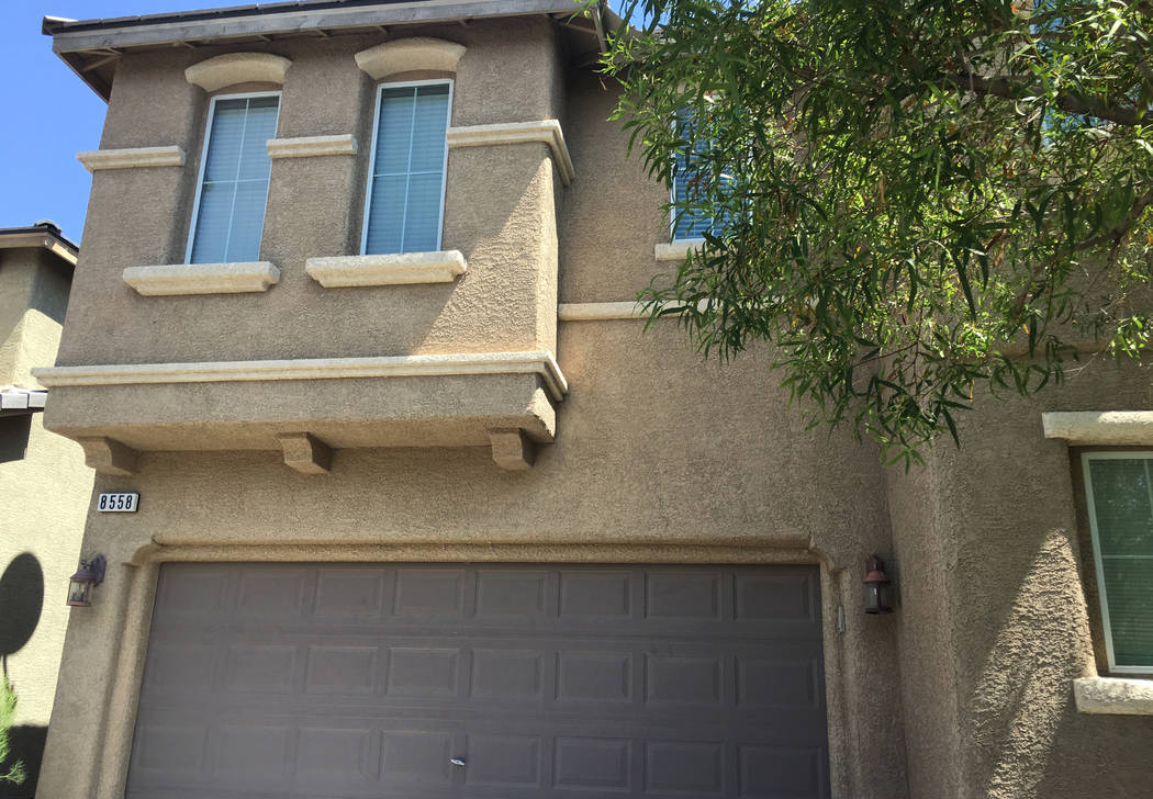 A house for sale at 8558 Rumsfield Court photographed on Monday, Aug. 27, 2018, in Las Vegas. (Eli Segall/Las Vegas Review-Journal)