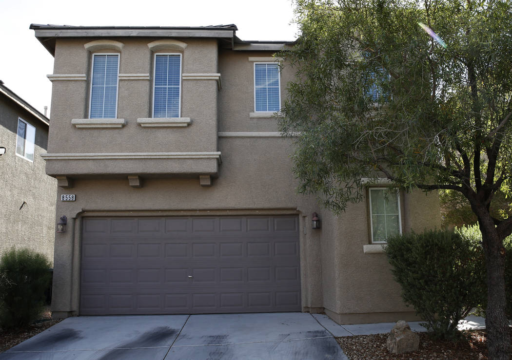 A house for sale at 8558 Rumsfield Court photographed on Wednesday, Aug. 29, 2018, in Las Vegas. (Bizuayehu Tesfaye/Las Vegas Review-Journal) @bizutesfaye