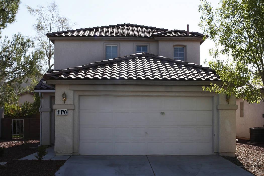A house for sale at 11170 Alora St. photographed on Tuesday, Aug. 28, 2018, in Las Vegas. (Bizuayehu Tesfaye/Las Vegas Review-Journal) @bizutesfaye