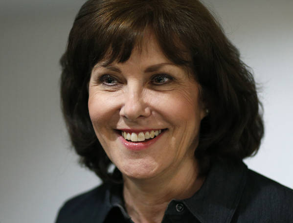 In this June 14, 2016, file photo, Jacky Rosen attends an election night party in Las Vegas. (AP Photo/John Locher, File)