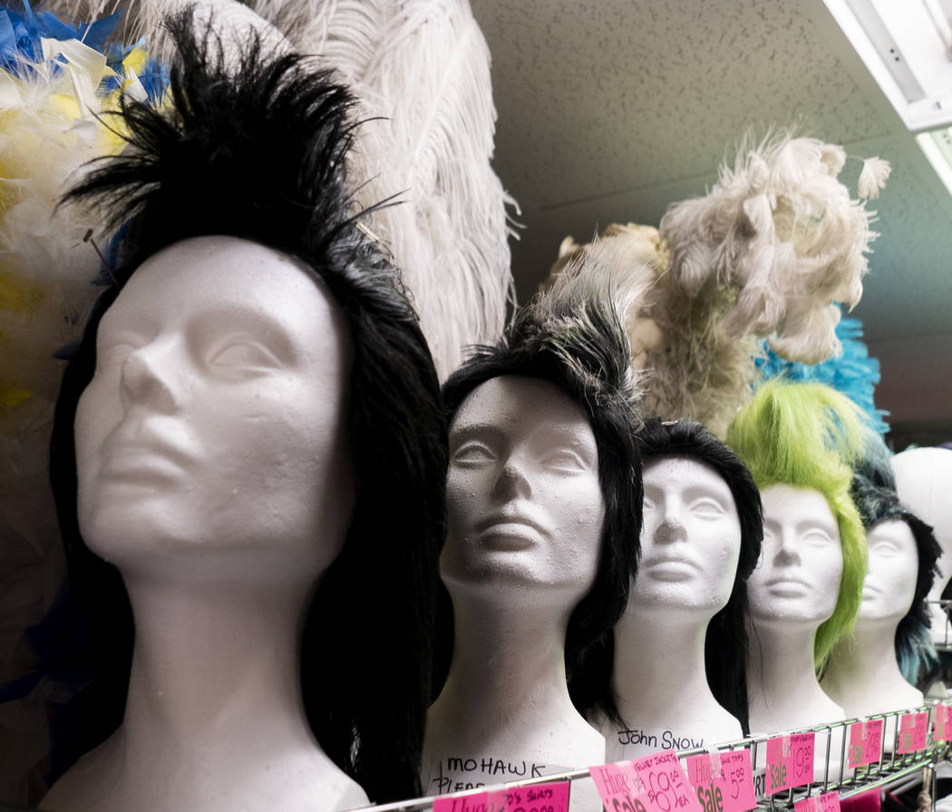 Showgirl costumes photographed at American Costumes in Las Vegas, Tuesday, Aug. 28, 2018. After 40 years of business, American Costumes will close. (Marcus Villagran/Las Vegas Review-Journal) @mar ...
