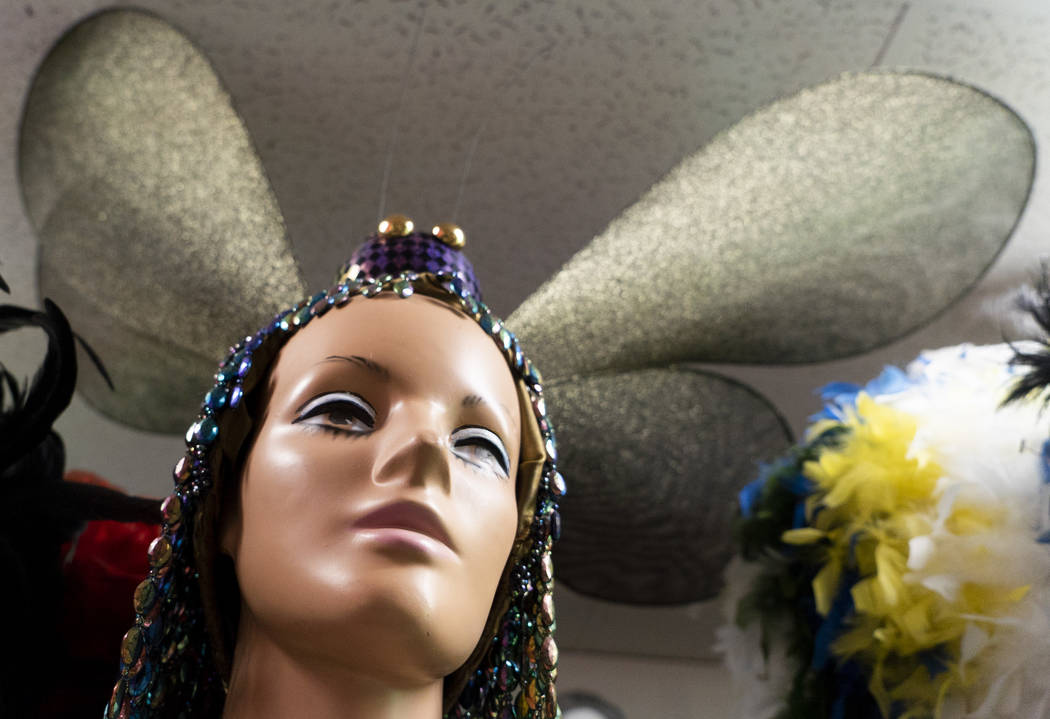 A dragonfly-themed showgirl costume photographed at American Costumes in Las Vegas, Tuesday, Aug. 28, 2018. After 40 years of business, American Costumes will close. (Marcus Villagran/Las Vegas Re ...