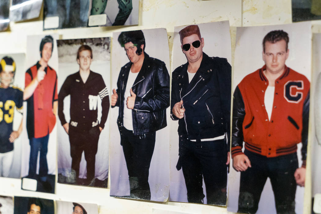 Photos of inventory can be seen on the walls at American Costumes in Las Vegas, Tuesday, Aug. 28, 2018. After 40 years of business, American Costumes will close. (Marcus Villagran/Las Vegas Review ...